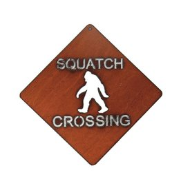 Squatch Crossing Sign