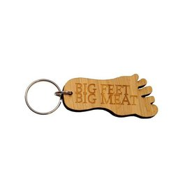 Big Feet Big Meat™ Bamboo Keychain