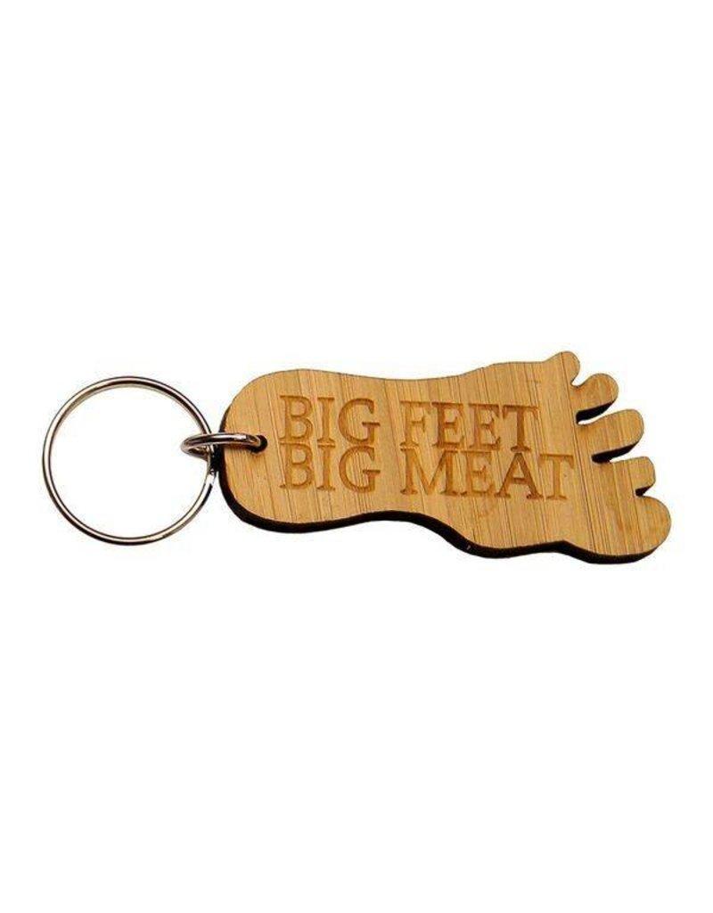 Big Feet Big Meat™ Bamboo Keychain