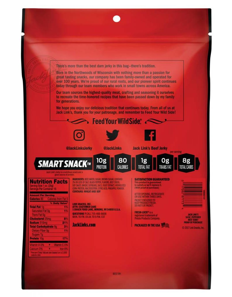 Peppered Beef Jerky, 16 oz