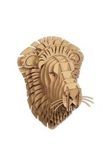 Cardboard Safari Cardboard Safari Leon Lion Bust - Nano - Brown