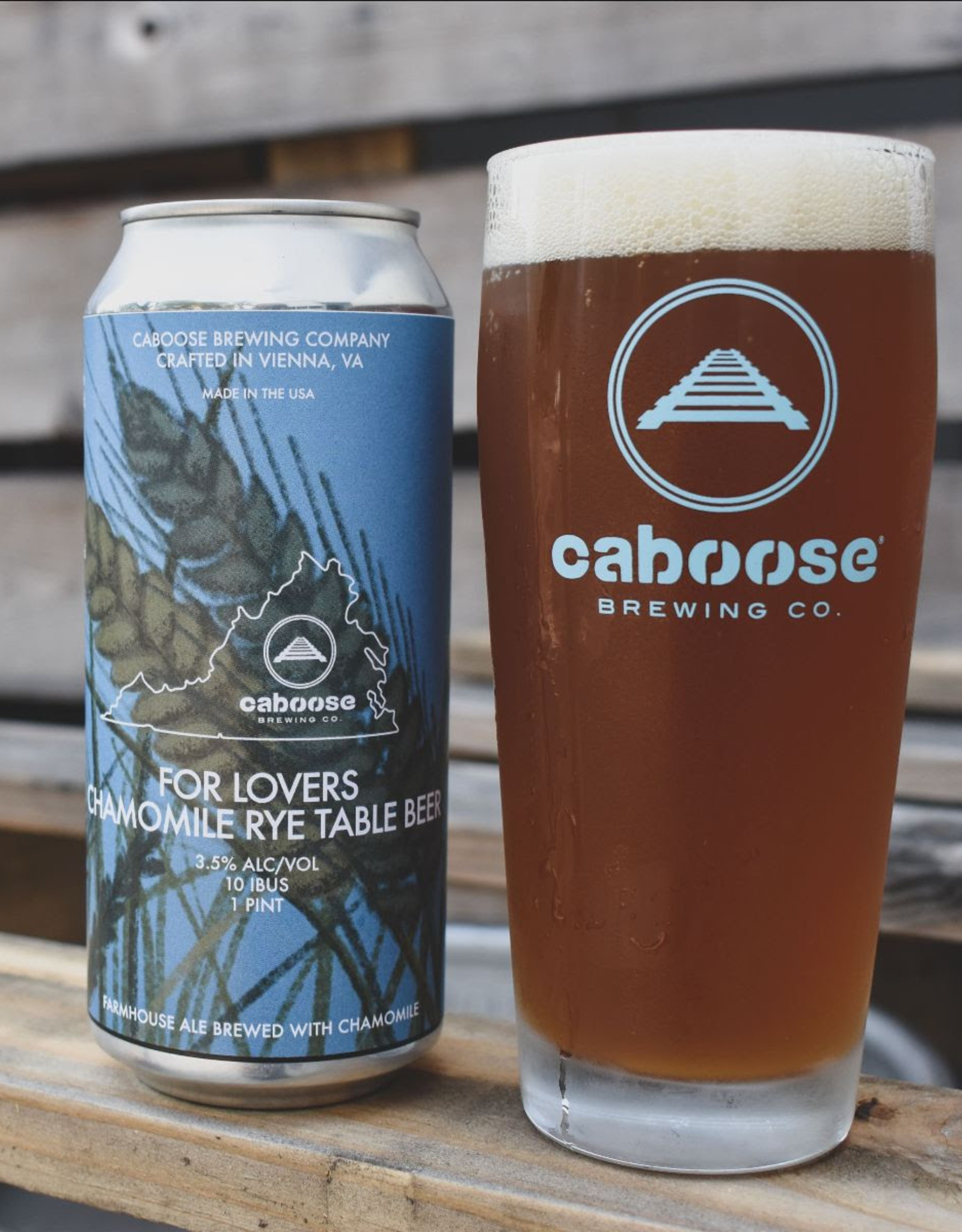 Caboose Brewing Company Caboose For Lovers: Chamomile Rye Table Beer can 16oz 4P