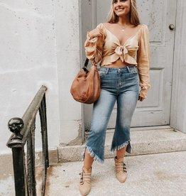 Lindsay Crop Flare Jeans