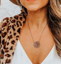 Sterling Silver Metal Cutout Monogram Necklace