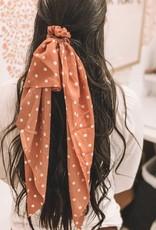 Polka Dot Long Tail Scrunchie