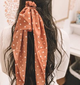 Polka Dot Long Tail Scrunchie
