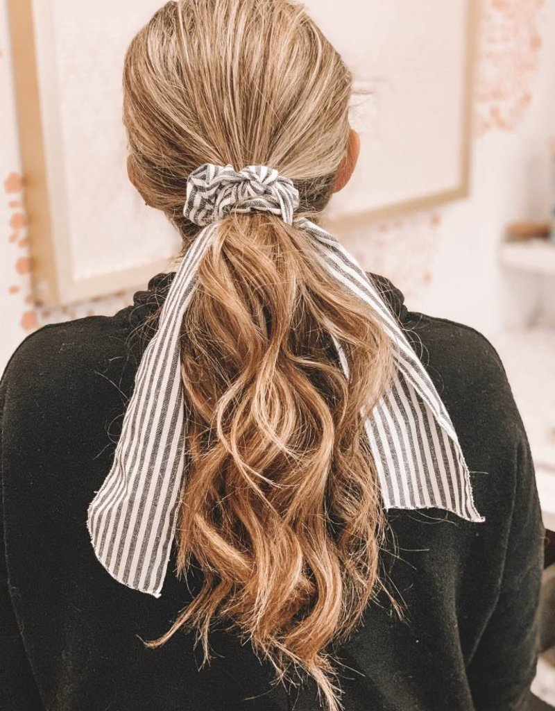 Long Striped Ribbon Scrunchie