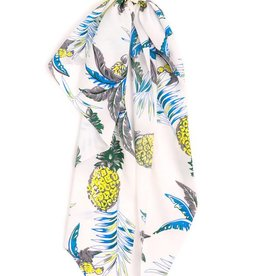 Pineapple Print Long Tail Scrunchie