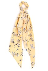 Flower Print Long Tail Scrunchie