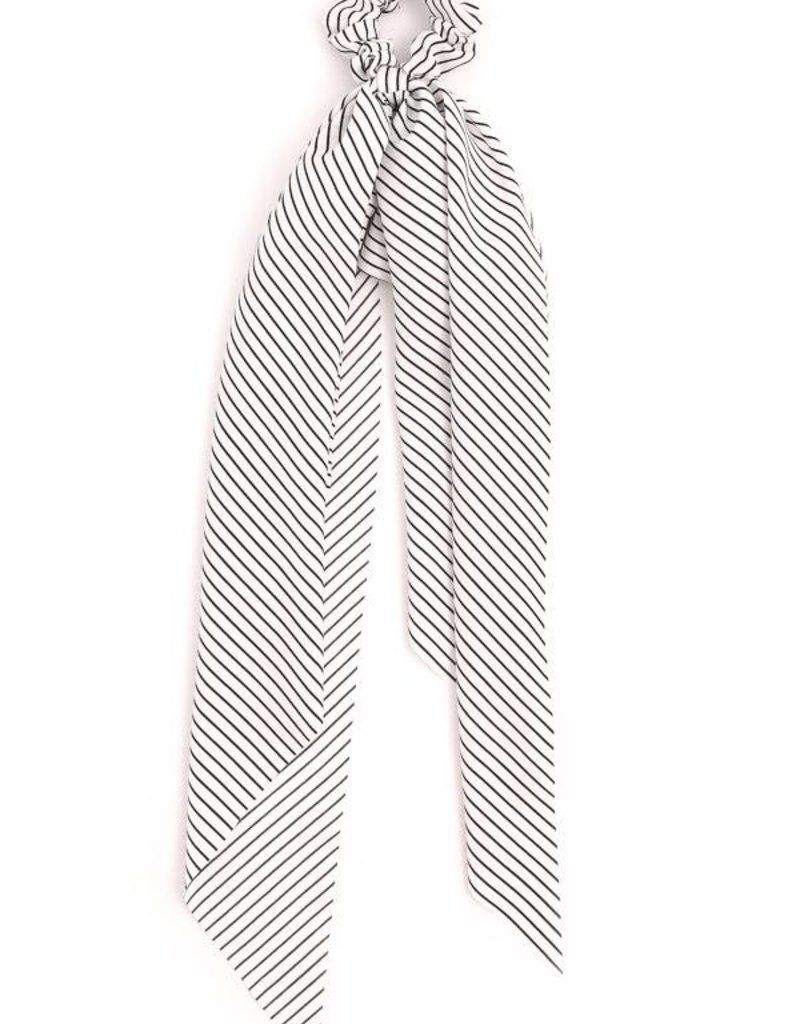Striped Long Tail Scrunchie