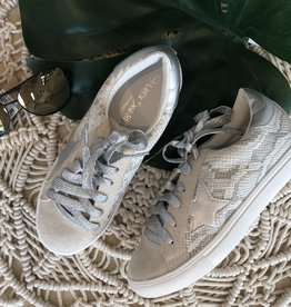 Metallic Star Snake Sneakers