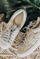 Metallic Star Snake Sneakers