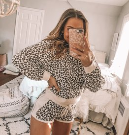 Brushed Leopard Shorts