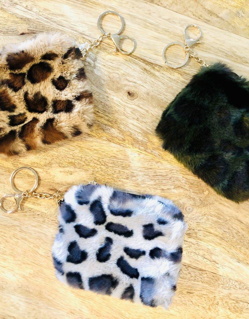 Leopard Fur Key Ring