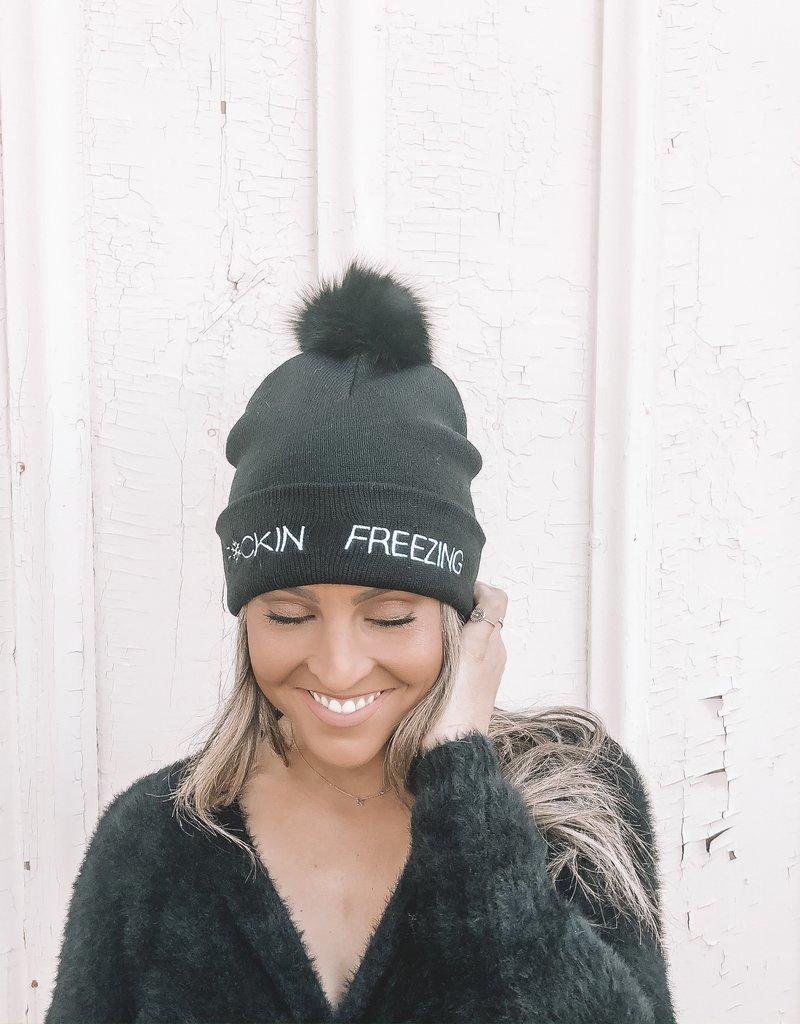KNIT HAT Fu**ing Freezing