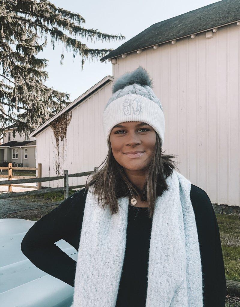 Monogrammed Shawna Pom Hat