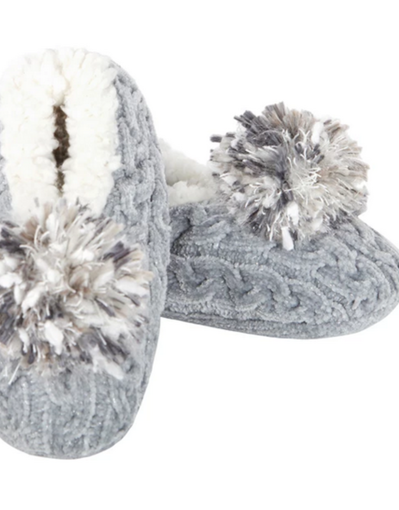 Knit Pompom Slipper