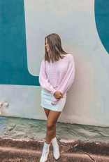 Free People Modern Femme White Vegan Skirt