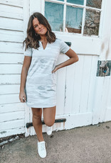 The Camo Split Neck Dress