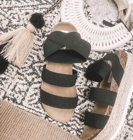 Kimmie Flatform Sandal Black