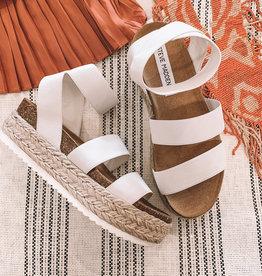 Kimmie Platform Sandal White