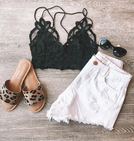 Free People Adella Bralette Black