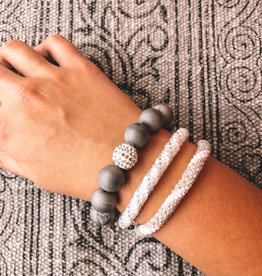 Styled Stack Silver Strength, Courage, Protection