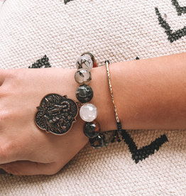 Styled Stack Black Strength, Courage, Protection