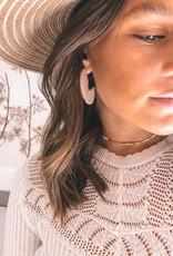 Wood, Blush & Beads Earring & Necklace Set
