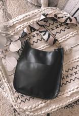 Black/Pink Camo Large Vegan Leather Messenger Bag Combo