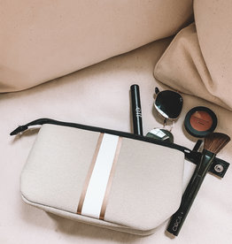 Erin Small Cosmetic Beige Linen