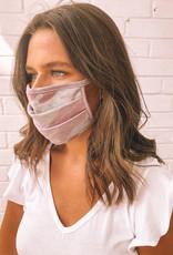 Fashion Mask Pink and Grey Camo