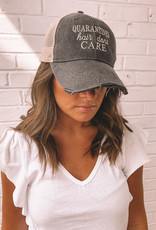 """Charcoal Trucker Hat """"Quarantined Hair Don't Care"""""""