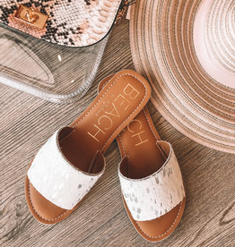 Cabana Sandal Silver Cowhide