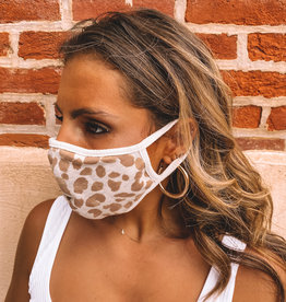Taupe Leopard Cloth Mask