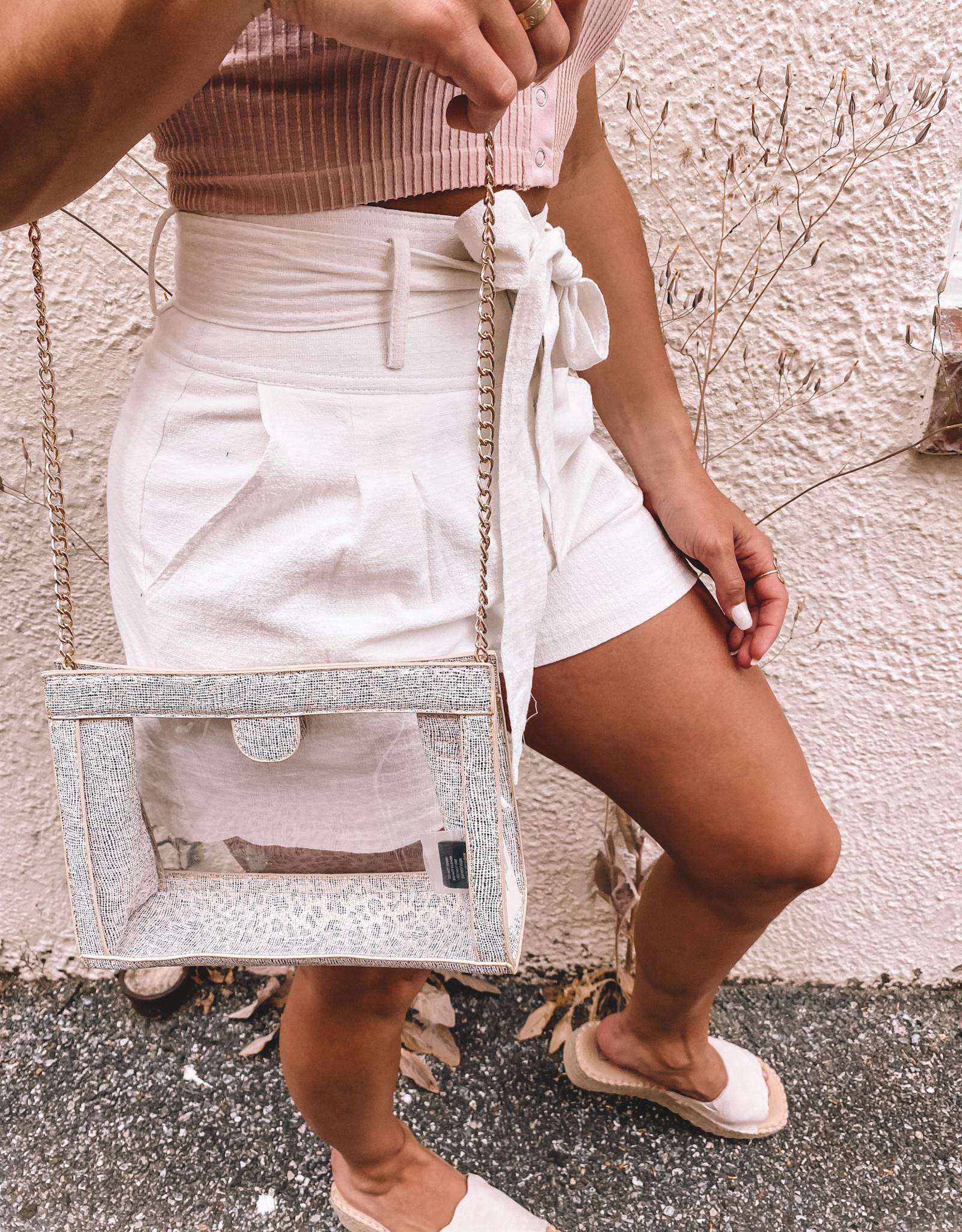 Miller Snap Clear Crossbody Bag
