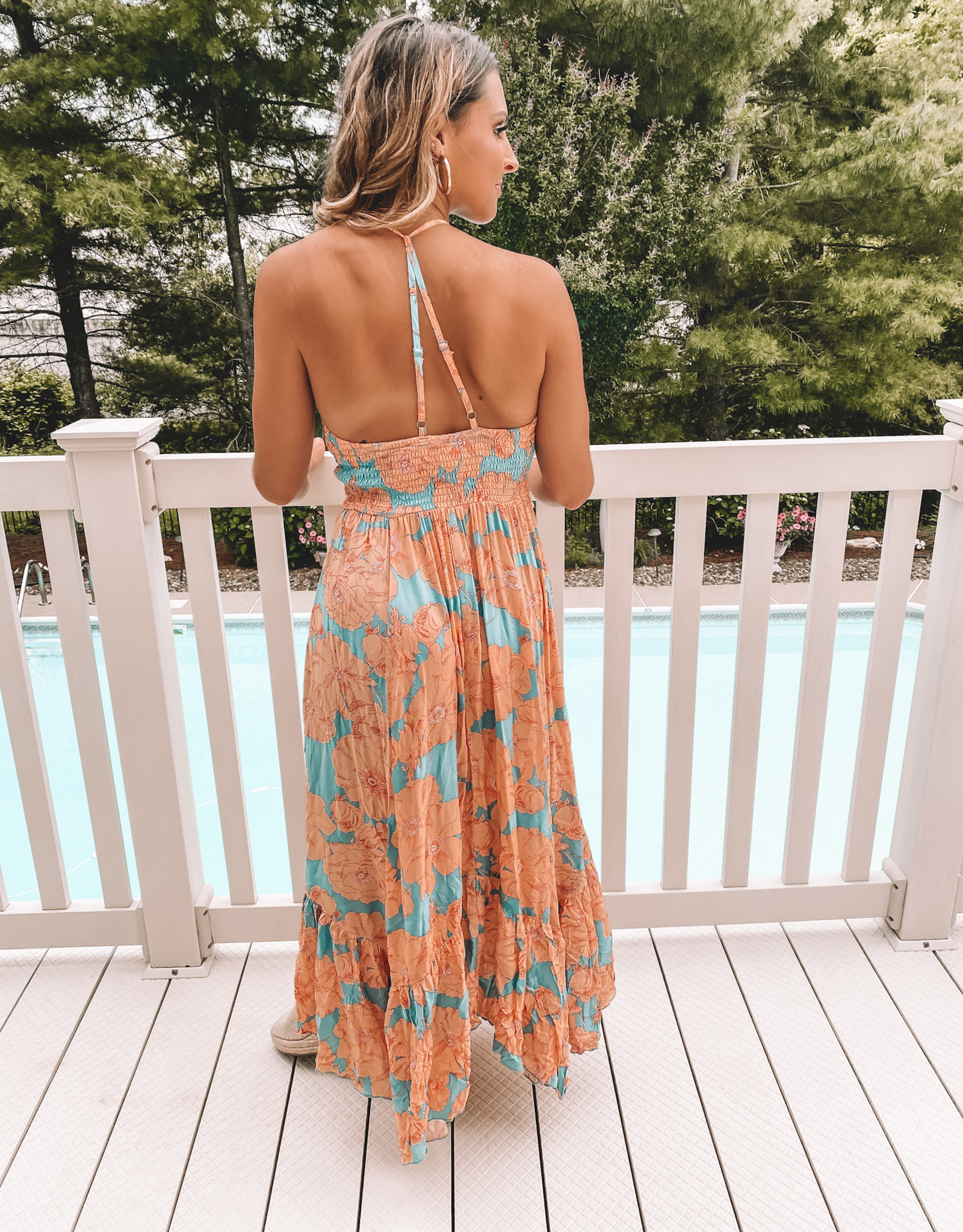 Free People Heatwave Printed Maxi Dress