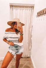Alyssa Distress Denim Shorts