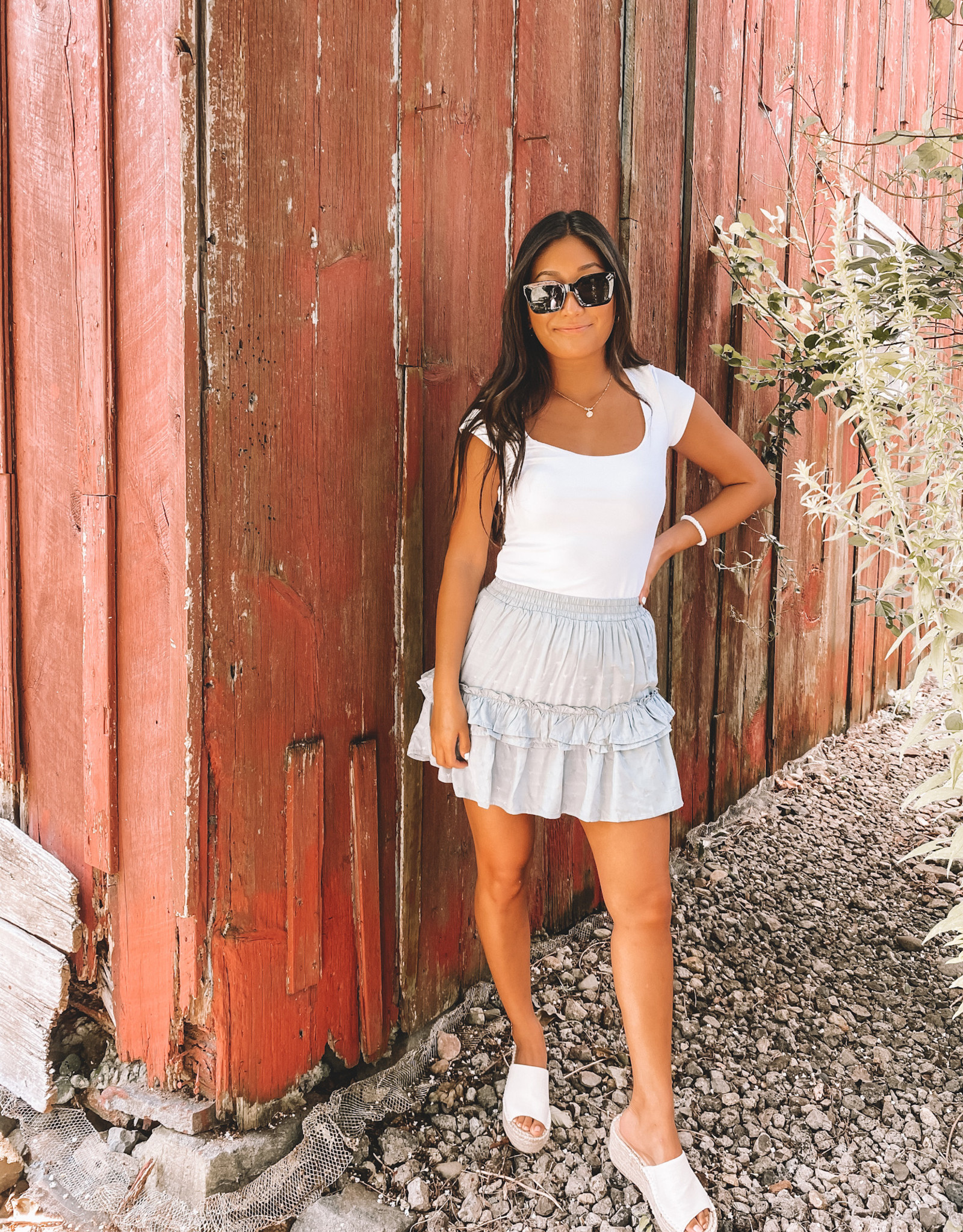 Free People In her Power Tee White