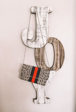 Silver Animal Beaded Clutch