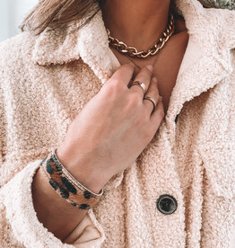 Leopard Cowhide Strap Bracelet