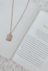Rectangle Medallion Initial Necklace