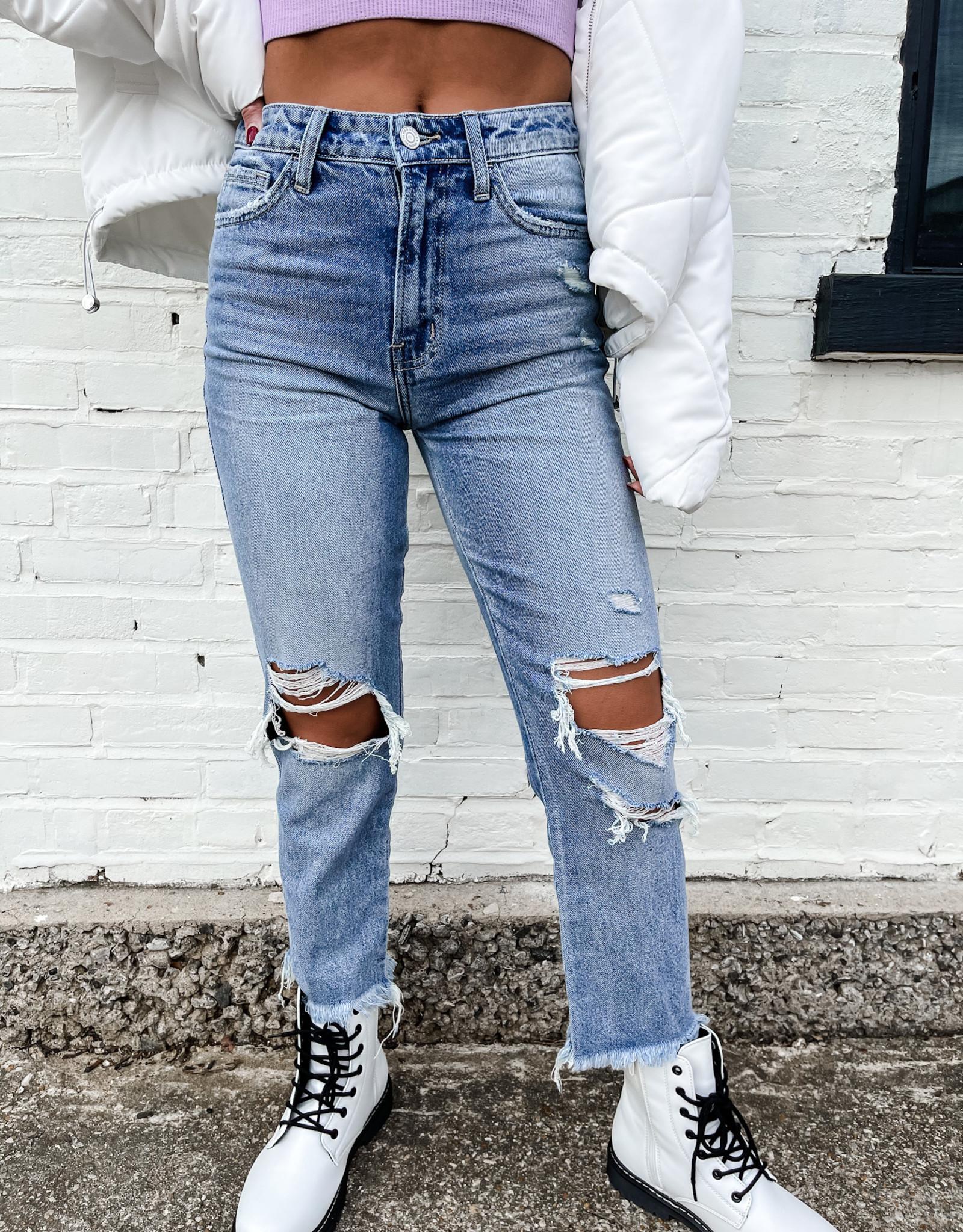 Maris Super High Rise Distressed Jeans