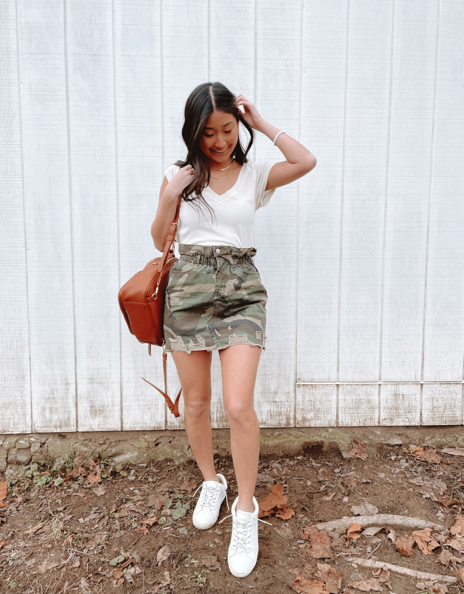 Charlene Denim Camo Skirt
