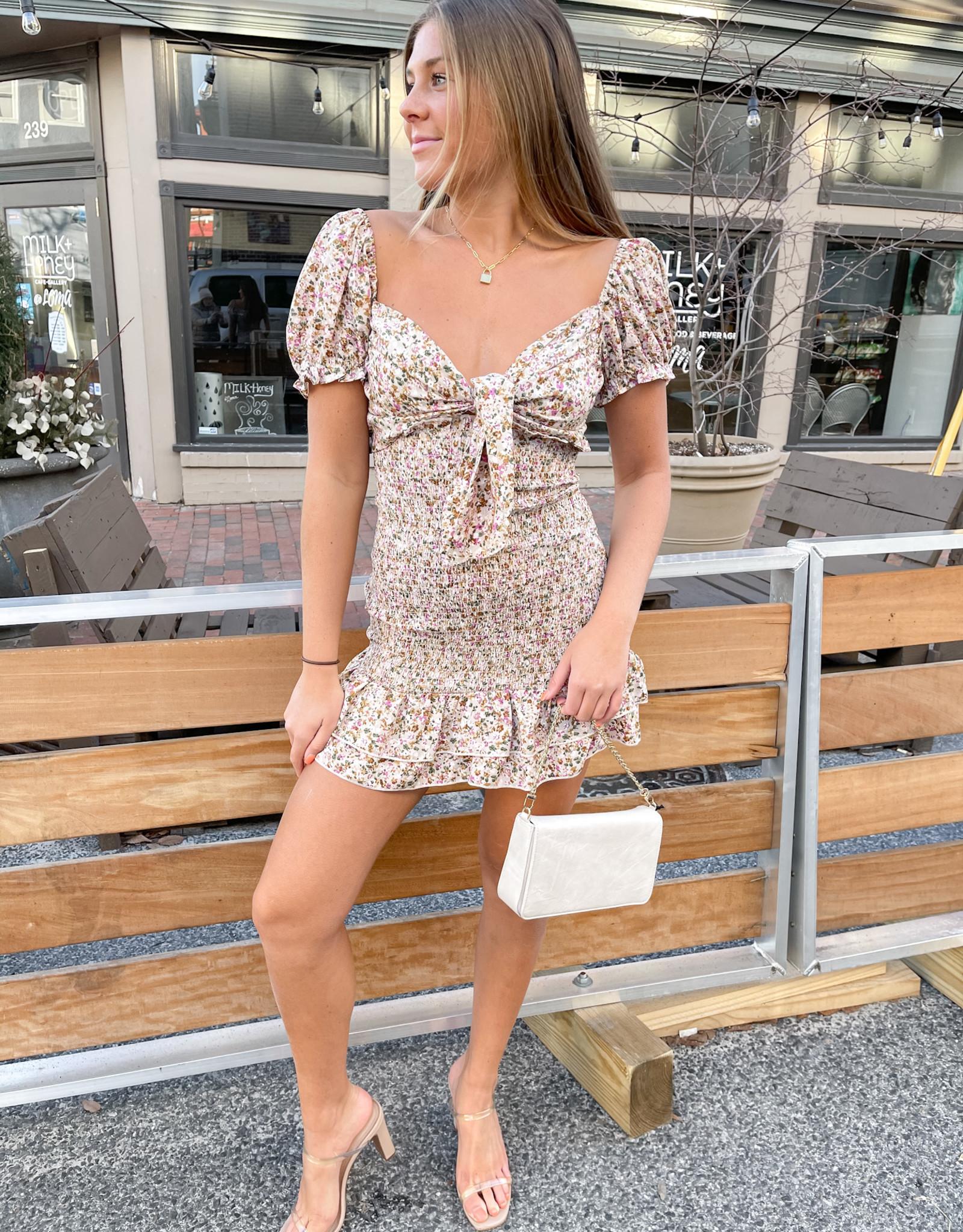 Chelsea Smocked Mini Dress