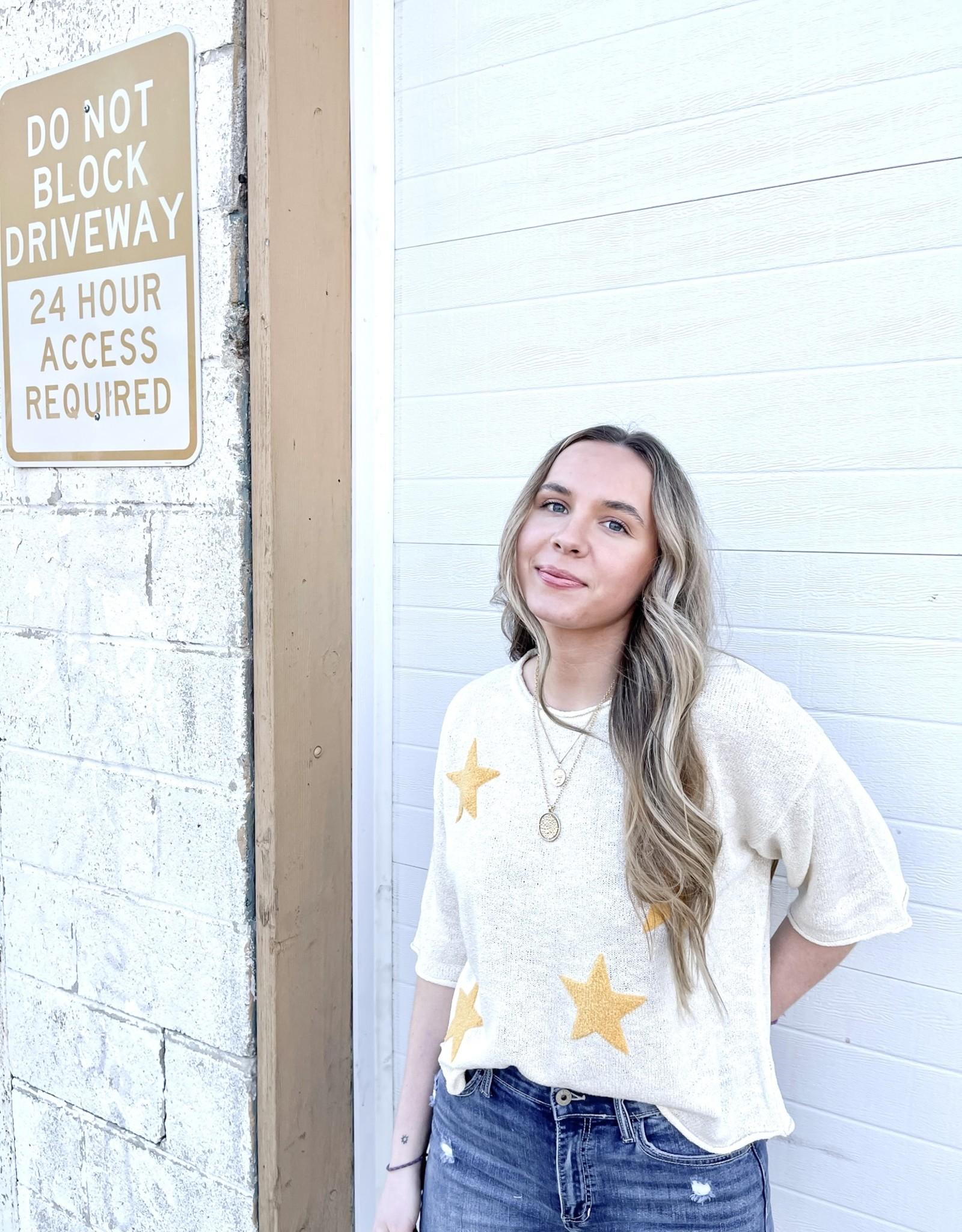 Jess Lightweight Star Sweater