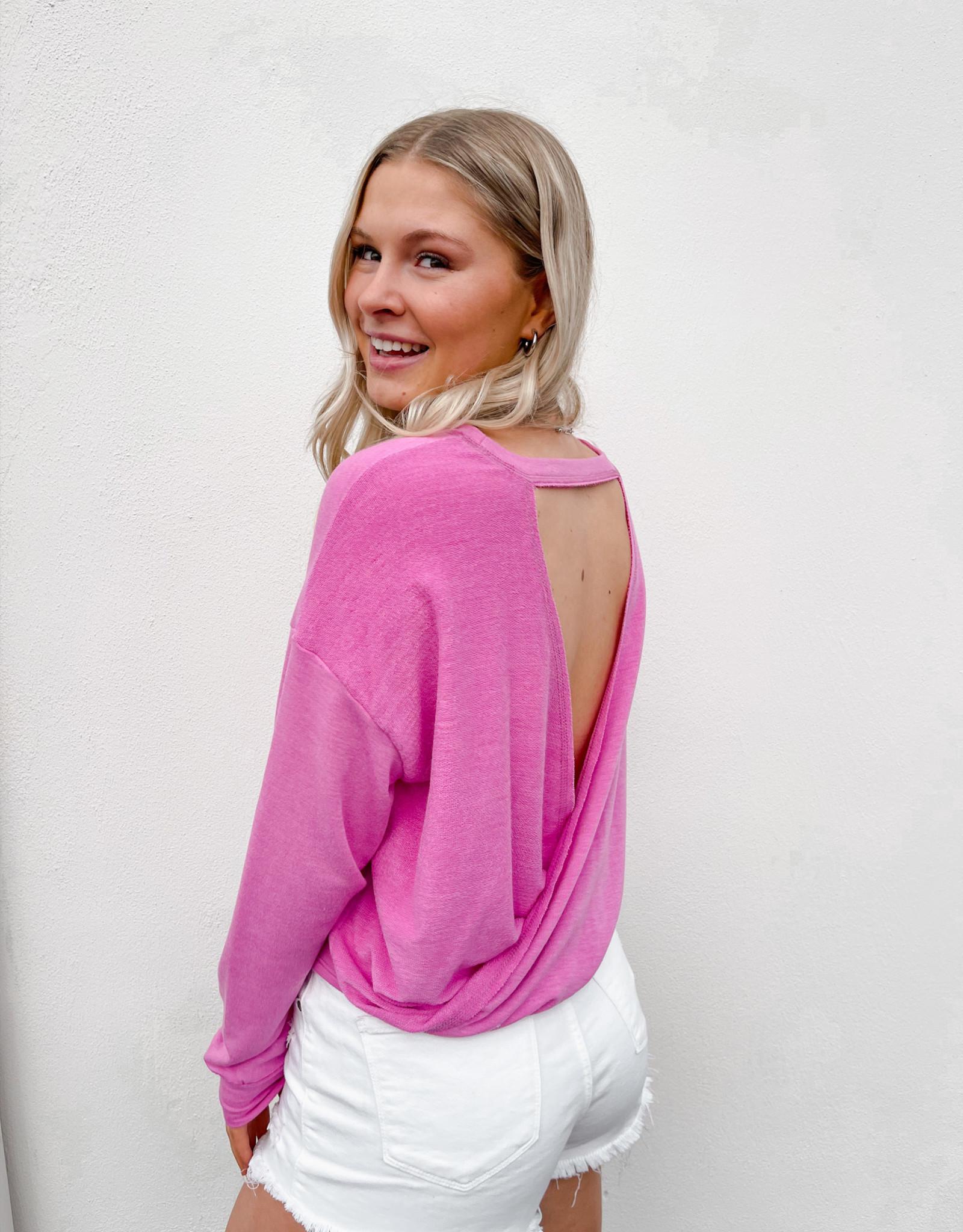 Belle Open Back Lightweight Sweatshirt
