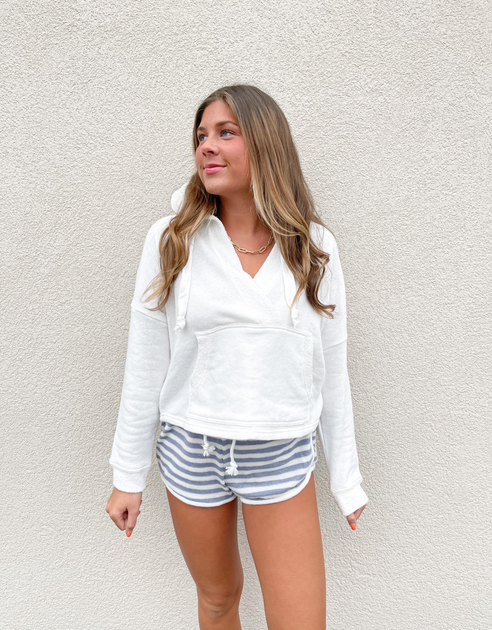 Kiki Striped Hacci Shorts