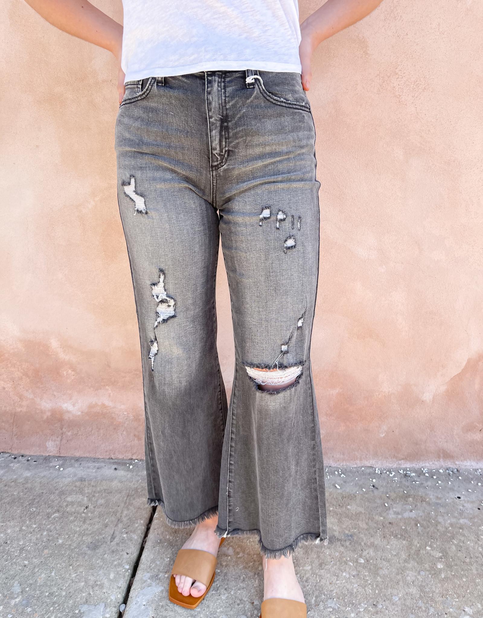 Adley High Rise Wide Leg Black Jeans