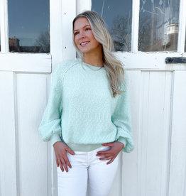 Fern Balloon Sleeve Sweater